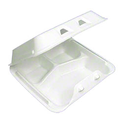 Pactiv SmartLock® Large 3 Compartment Container