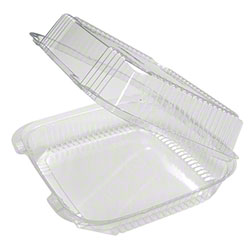 Pactiv EarthChoice® 1 Cmpt PLA Hinged Lid Container-49 oz.