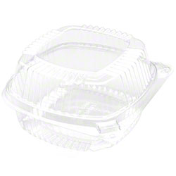 """Pactiv EarthChoice® 6"""" PLA Hinged Lid Container -20 oz."""
