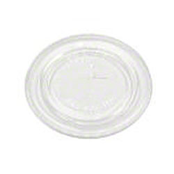 Pactiv Clear Flat Lids w/Straw Slot For 5 oz. Cups