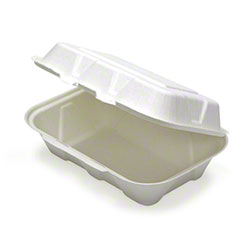 "Pactiv EarthChoice® Fiber Blend Hinged Takeout Container - 9"" x 6"" x 3"""