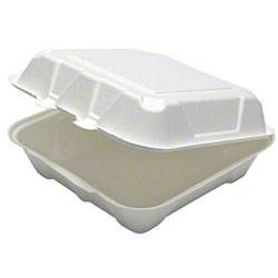 "Pactiv EarthChoice® Fiber Blend Hinged Takeout Container - 9"" x 9"" x 3"""
