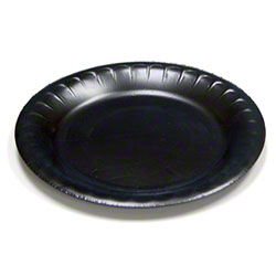 Pactiv Black Bread & Butter Plate - 6""
