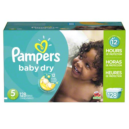 P&G Pampers Baby Dry Size 5 Diapers