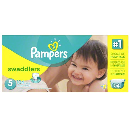 P&G Pampers Swaddlers Size 5 Diapers