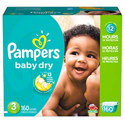 P&G Pampers Baby Dry Size 3 Diapers