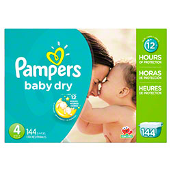 P&G Pampers Baby Dry Size 4 Diapers