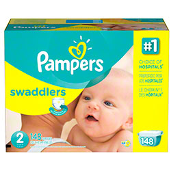 P&G Pampers Swaddlers Size 2 Diapers