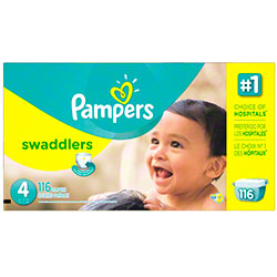 P&G Pampers Swaddlers Size 4 Diapers