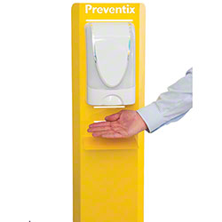 Preventix Hand Sanitizer Station - Yellow Portable