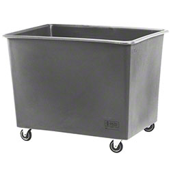 R & B Wire® General Purpose Poly Truck - 20 Bushel, Grey