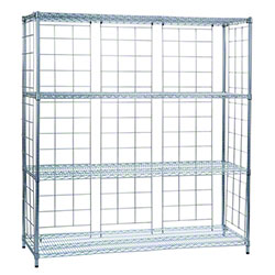 R & B Wire® Chrome Plated Side & Back Enclosure Panels