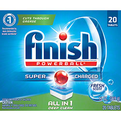 FINISH® ALL in 1 Power Ball® Tabs Rinse Agent - 20 ct.