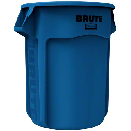 Rubbermaid® BRUTE® Round Container - 55 Gal., Blue