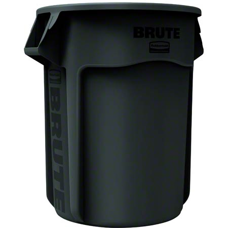 Rubbermaid® BRUTE® Vented Container - 32 Gal., Black