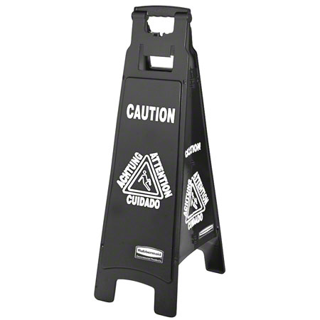Rubbermaid® Executive Multilingual 4-Sided Caution Sign