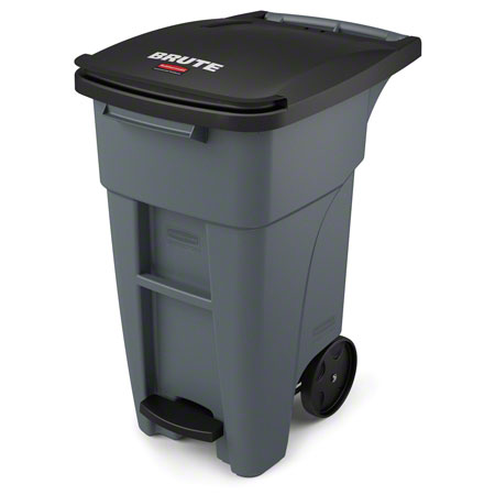Rubbermaid® BRUTE® Step-On Rollout - 32 Gal., Gray