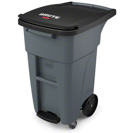 Rubbermaid® BRUTE® Step-On Rollout w/Casters