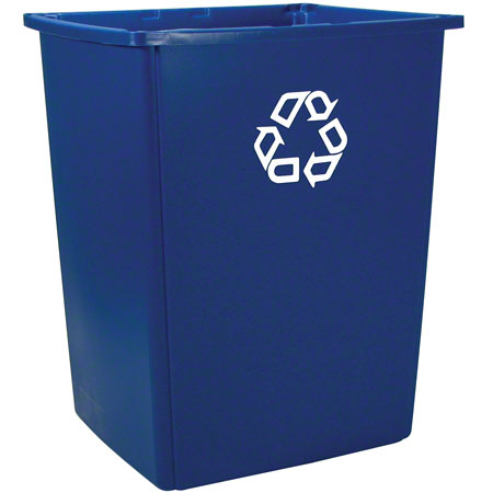 Rubbermaid® Glutton® Recycling Container - 56 Gal., Blue