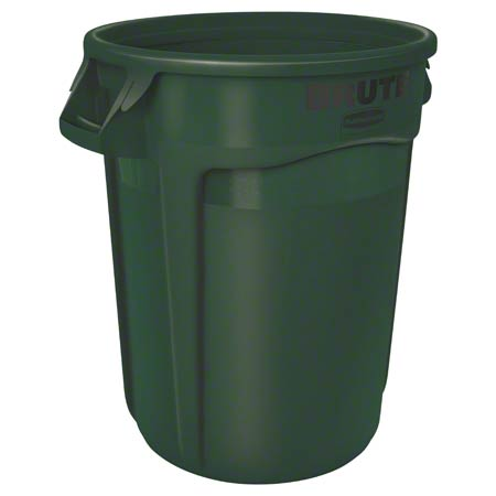 Rubbermaid® BRUTE® Vented Container - 32 Gal., Dk. Grn