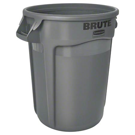 Rubbermaid® BRUTE® Vented Container - 32 Gal., Gray