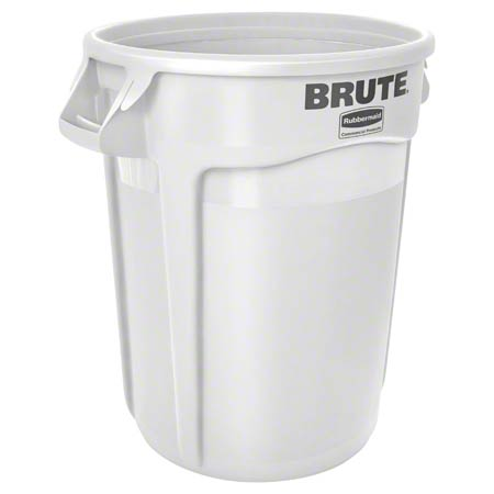 Rubbermaid® BRUTE® Vented Container - 32 Gal., White