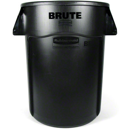 Rubbermaid® BRUTE® Vented Container - 44 Gal., Black