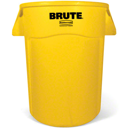 Rubbermaid® BRUTE® Vented Container - 44 Gal., Yellow