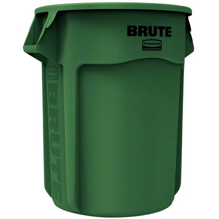 Rubbermaid® BRUTE® Vented Container - 55 Gal., Green