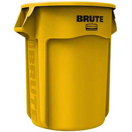 Rubbermaid® BRUTE® Vented Container - 55 Gal., Yellow
