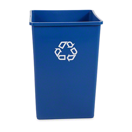 Rubbermaid® Untouchable® Recycling Container - 35 Gal., Square, Blue