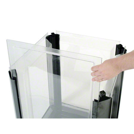 Rubbermaid® Clear Replacement Panel-50 Gal Landmark Series