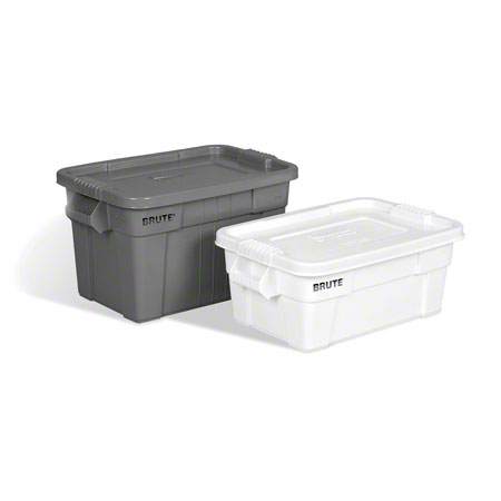 Rubbermaid® BRUTE® Tote with Lid - 14 Gal., White