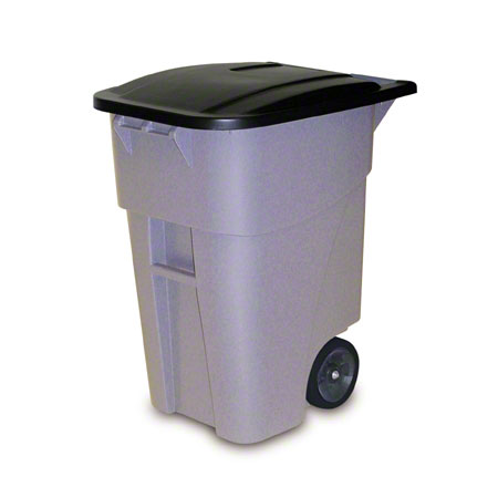 Rubbermaid® BRUTE® Rollout Cart - 50 Gal. w/ Lid, Gray