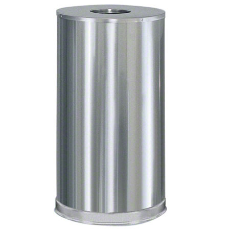 Rubbermaid® Open Top Round Indoor Receptacle - Stainless
