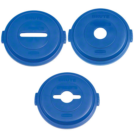 Rubbermaid® Recycling Top - Bottle/Can, Blue