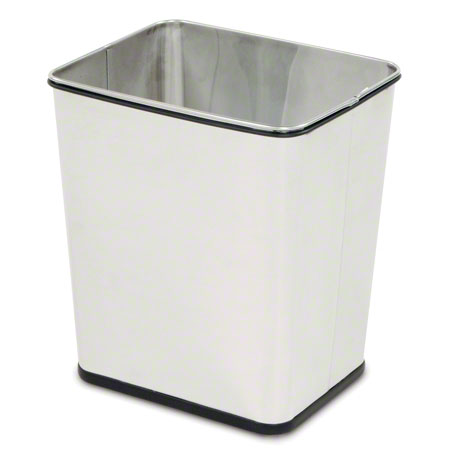 Rubbermaid® Concept Collection™ Open Top Wastebasket-SS