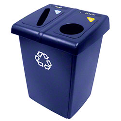 Rubbermaid® Two Stream Glutton® Recycling Station - Blue