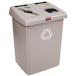 Rubbermaid® Two Stream Glutton® Recycling Station -Beige
