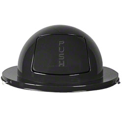 Rubbermaid® Dome Top For Steel Drum - Black