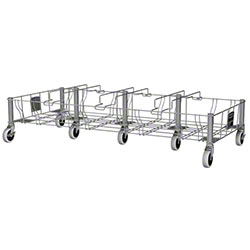 Rubbermaid® Slim Jim® Stainless Steel Quadruple Dolly