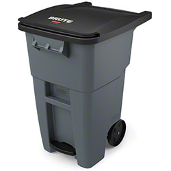 Rubbermaid® BRUTE® Step-On Rollout - 50 Gal., Gray