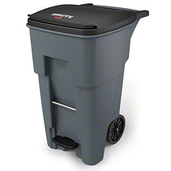 Rubbermaid® BRUTE® Step-On Rollout - 65 Gal., Gray