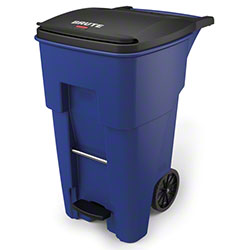 Rubbermaid® BRUTE® Step-On Rollout - 65 Gal., Blue