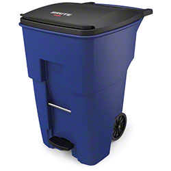 Rubbermaid® BRUTE® Step-On Rollout - 95 Gal., Blue
