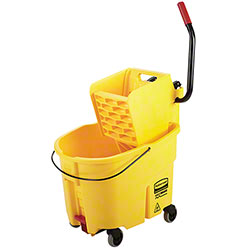 Rubbermaid® WaveBrake® Side Press w/Drain- 35 Qt.,Yellow