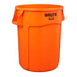 Rubbermaid® Vented Brute® High Visibility Container - 44 Gal., Orange