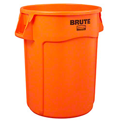 Rubbermaid® Vented Brute® High Visibility Container - 32 Gal., Orange