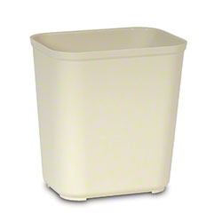 Rubbermaid® Fire Resistant Wastebasket - 28 Qt., Beige
