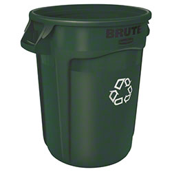 Rubbermaid® BRUTE® Recycling Container-32 Gal., Dk Green